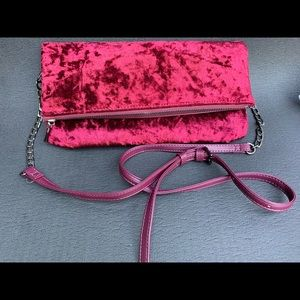 Sole Society Crushed Velvet Convertible Clutch